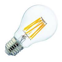 Светодиодная лампа Horoz филамент 6W E27 груша