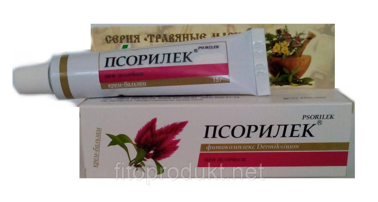 Псорилек® крем-бальзам из трав против псориаза и экземы, 15 г Леккос