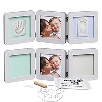 Тройная рамочка с отпечатками Baby Art Пастель