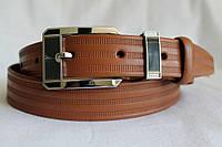 Кожаный ремень 35 мм рыжий пряжка комплект