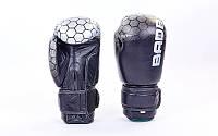 Перчатки боксерские кожаные на липучке BAD BOY 12 oz