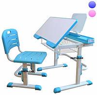 Регулируемая Детская парта трансформер, стул + подставка, полка (2 цвета)