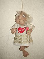 Интерьерная авторская текстильная кукла ручной работы Брутальный ангел
