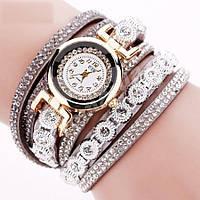Женские часы-браслет со стразами Gray