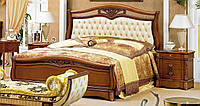 Кровать двухспальная с мягким изголовьем Orchidea / Орхидея натуральное дерево AMD 180х200