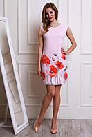 Яркое и модное летнее платье  с маками