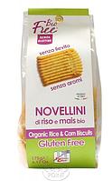 Печенье органическое бездрожжевое из риса и кукурузы, 175 г, BIOFREE ORGANIC YEAST-FREE RICE AND CORN BISCUITS