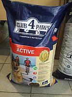 Клуб 4 лапы для взрослых собак Актив 12 кг