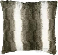 Подушка декоративная искусственный мех коричневая 45х45 см La Nuit