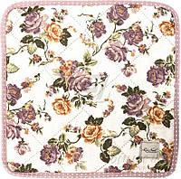Подушка на табурет Роза фиолетовая 34x34 см La Nuit