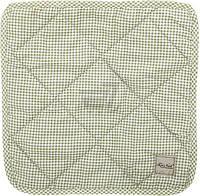 Подушка на табурет Клетка салатовая 34x34 см La Nuit