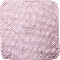 Подушка на табурет Клетка фиолетовая 34x34 см La Nuit