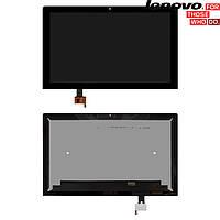 Дисплейный модуль (дисплей + сенсор) для Lenovo Yoga Tablet 2 Pro-1380, Wi-Fi, черный, оригинал