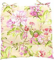 Подушка на стул Весенний сад 45х45 см зеленый Теамо