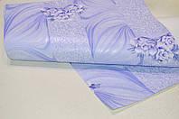 Обои на стену, цветы, голубой, акрил на бумаге, Подарочный 7045-03, 0,53*10м