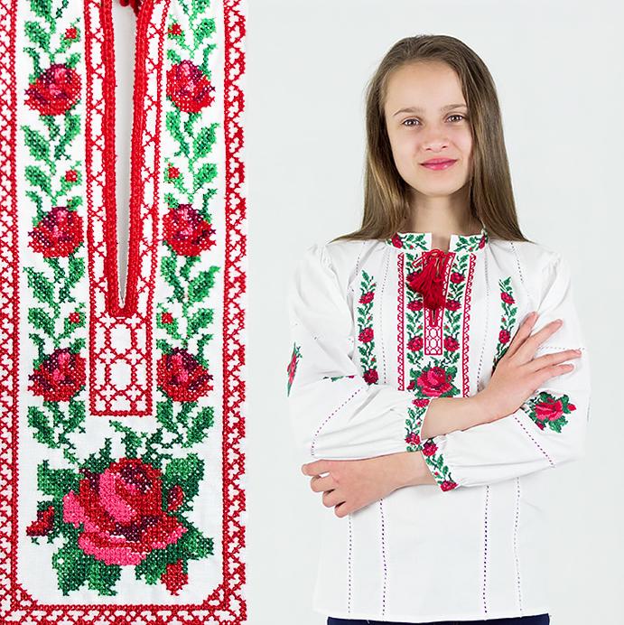 """Вишиванки хрестиком """"Трояндочка"""" від 7 до 13 років"""