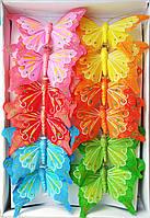 Бабочки декоративные (8 см, 12 шт)