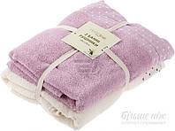 Набор полотенец махровых полотенец Amber 68х128 см 2 шт. кремовый