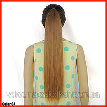 Хвост накладной на ленте черный русый каштан блонд, фото 2