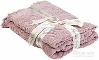Набор полотенец Karna 2 шт ESRA розовый