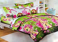 Полуторный детский комплект постельного белья из Ранфорса Понни (70х70)