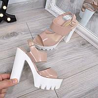 Босоножки женские Formation бежевый лак, летняя обувь