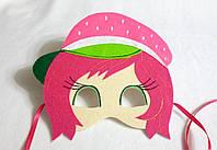 Карнавальная маска Шарлотта Земляничка для сюжетно ролевых детских игр Шарлотта Земляничка