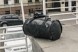 Мужская кожаная сумка бочка mod.ROMB из экокожи, фото 5