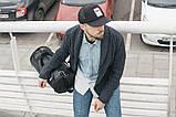 Мужская кожаная сумка бочка mod.ROMB из экокожи, фото 3