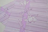 Обои на стену, цветы, розовый, акриловые на бумажной основе, B76,4 Марго 7019-06, 0,53х10м