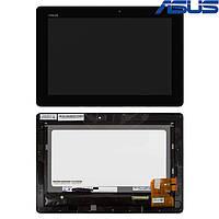 Дисплейный модуль (дисплей + сенсор) для Asus Eee Pad TF300, TF301,  с рамкой, черный, оригинал