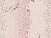 Обои на стену, нежные, светлые, бежевые, акрил на бумажной основе, B76,4 Кипр 6425-01, 0,53*10м
