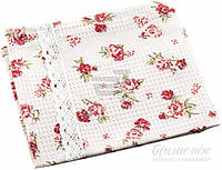 Полотенце кухонное Red Rose с кружевом 34x60 см   Прованс