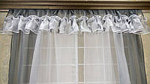 """Кухонные шторы """"Лира"""", серая, фото 3"""