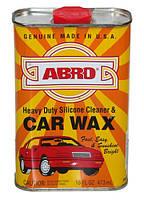Силиконовый очиститель и автополироль Abro Car Wax 473 мл