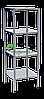 Стеллаж профессиональный НЖ 600*600*1800  (каркас крашеный)