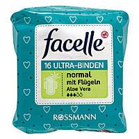 Facelle Ultra-Binden normal mit Flügeln & Aloe Vera - Женские гигиенические прокладки с алое вера, 16 шт.