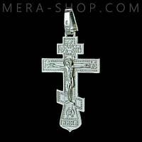 Большой нательный крест из серебра (кр-29)