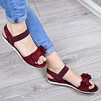 Босоножки женские Nina бордо, летняя обувь
