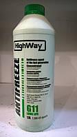 Охлаждающая жидкость (концентрат-80 С) Hayway G11 (зеленая)  1.5л