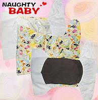 Подгузники многоразовые облегченные с рисунком для новорожденных с рождения для недоношнных деток, фото 1