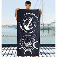 Качественные полотенца для мужчин - №2046, Цвет синий