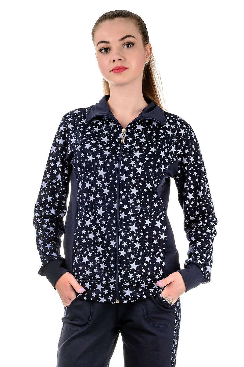 Cпортивный костюм женский Звезды (синий)