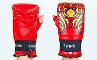 Снарядные перчатки с открытым большим пальцем DX TWINS  Красный, L