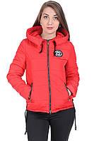 Куртка демисезонная женская короткая с капюшоном