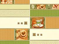 Обои на стену, на кухню, светлые, зеленые,  винил, Индия 5524-04, супер-мойка, 0,53*10м