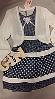 Нарядное детское платье с болеро для девочки 6-7 лет