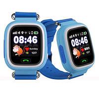 Умные детские смарт часы Smart Baby Watch Q100 Синие с GPS трекером Новинка, фото 1