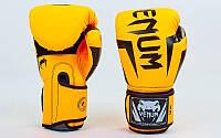 Перчатки боксерские PU на липучке VENUM Оранжевый, 12 oz