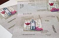 Обои на стену, вино, светлый,  винил,  B49.4 Шардоне С859-10, бокал виноград,0,53*10м